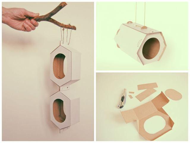 Как сделать кормушку для птиц своими руками картона