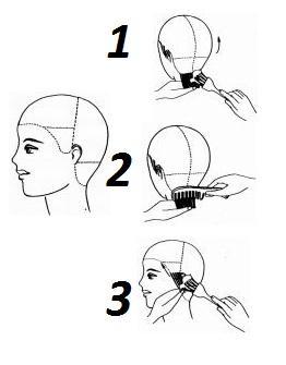 Тонировка для волос схема