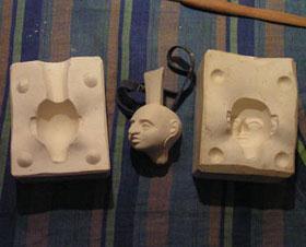 """Мастер-класс: Изготовление подвижной в """"суставах"""" куклы из фарфора методом литья в гипсовые формы - кукла, изготовление, куклы,"""