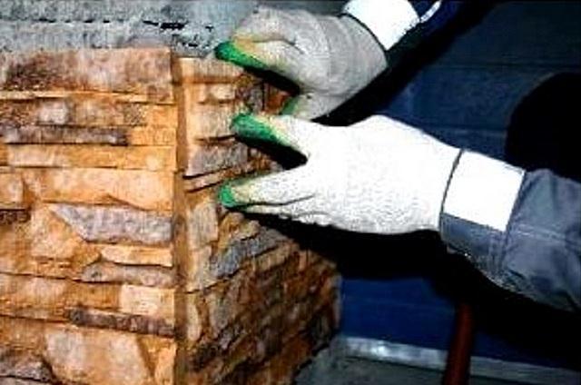 Как положить искусственный камень на углы