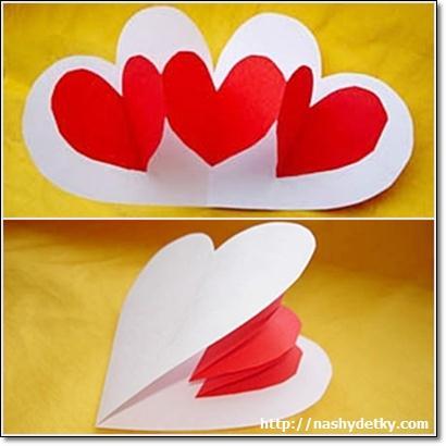 Валентинки своими руками из картону