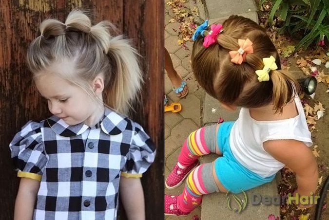 Прически для девочек на короткие волосы в домашних условиях