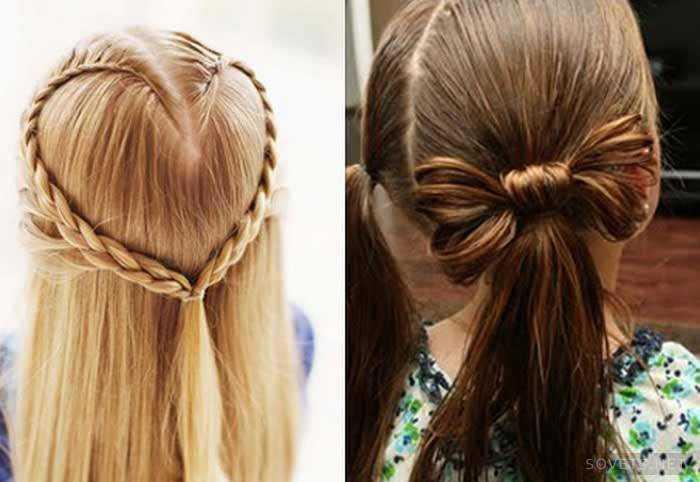 Прическа для девочки на длинные волосы на выпускной