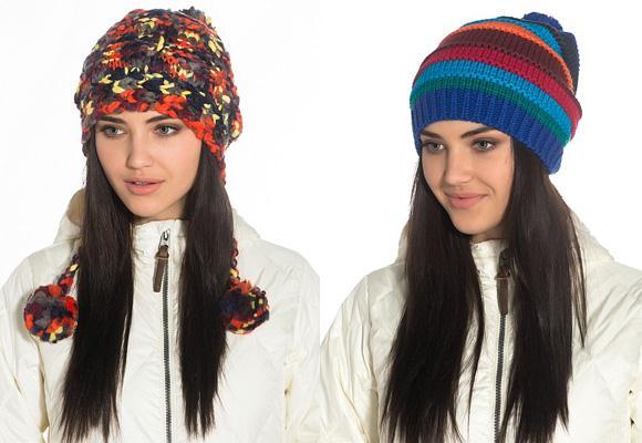 Вязанные шапки женские своими руками зима 2015-2016