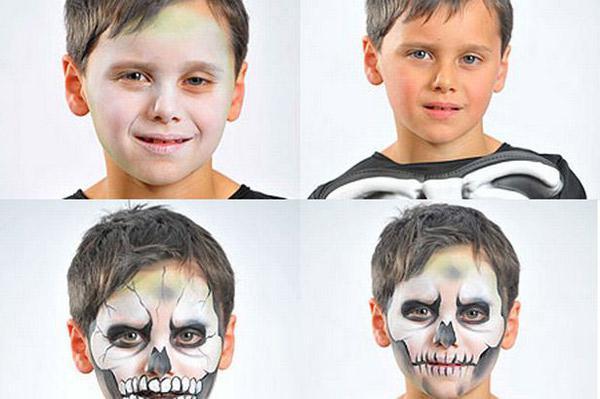 оригинальная раскраска лица