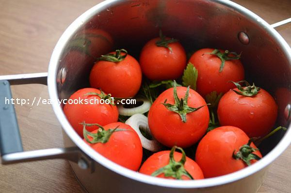 малосольные помидоры рецепт с фото
