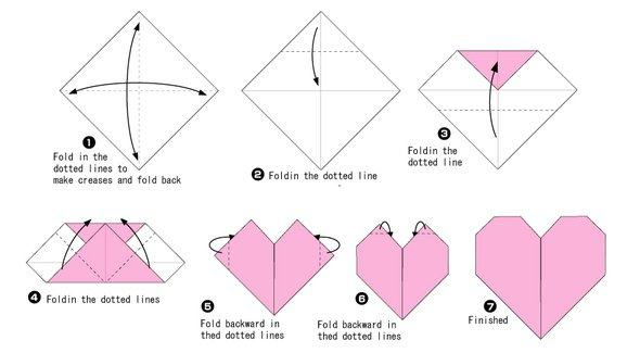 Сердечко из бумаги своими руками оригами