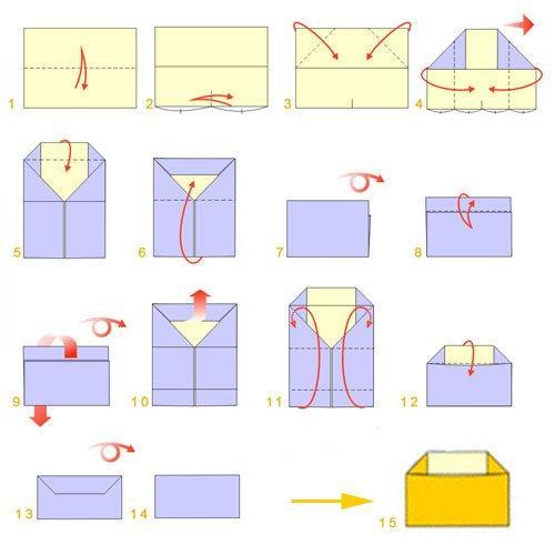 схемы конвертов из бумаги