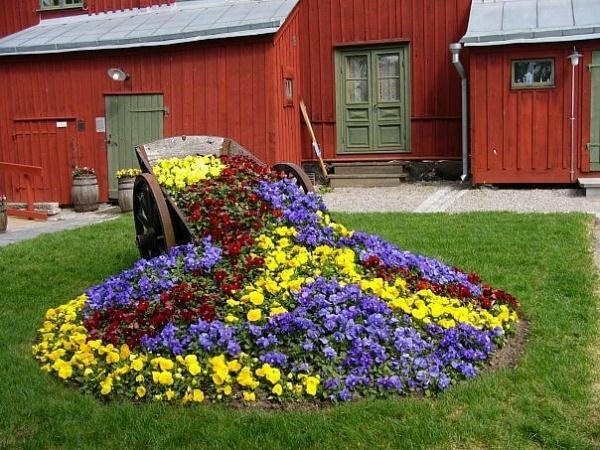 Как красиво посадить цветы на участке