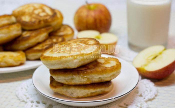 Как сделать вкусные оладьи с яблоком - Mmrr.ru