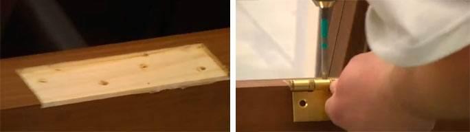 Как сделать дверную петлю