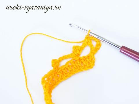 Мастер класс как связать шарф крючком