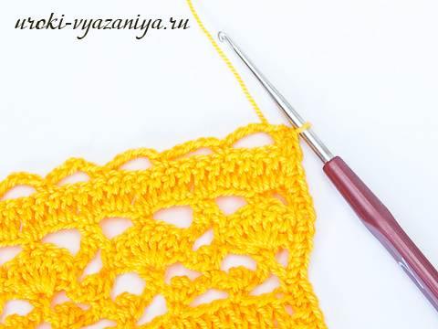 Ажурный шарф крючком, подробный мастер-класс для начинающих - My Life