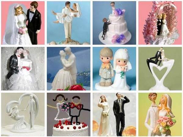 Как сделать фигурки на свадебный торт своими руками