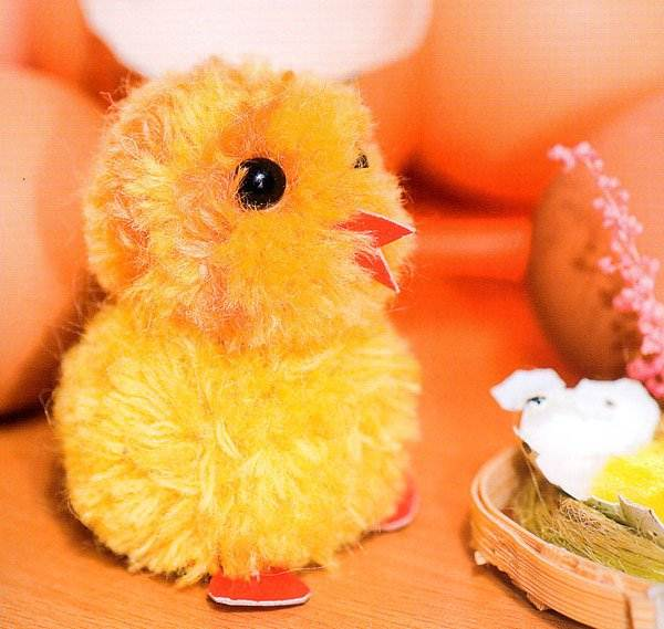 Как сделать цыпленок из нитки
