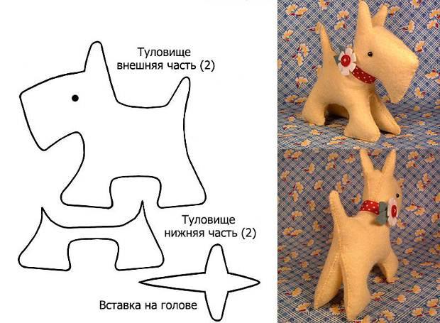Собачка из фетра своими руками с выкройками - GCconcept.ru