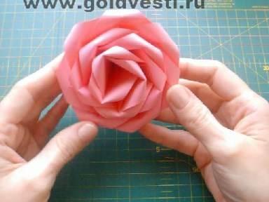 Роза из бумаги своими руками лёгкая из