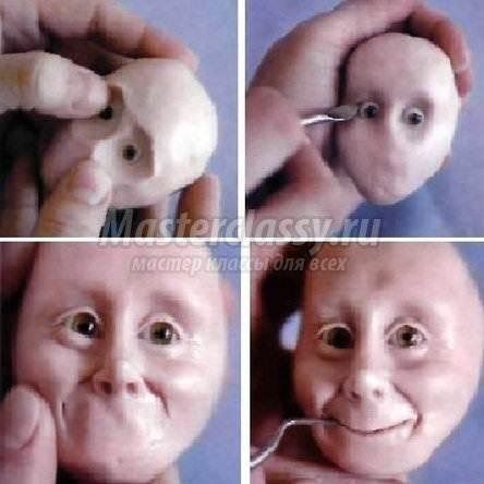 Сделать куклу своими руками из полимерной глины видео