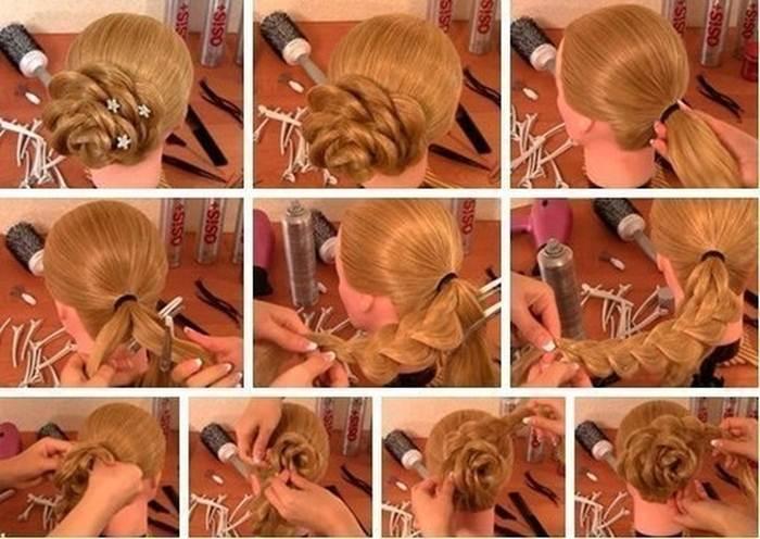 Плетение для длинных волос простые