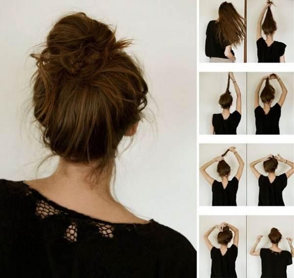 Как сделать на волосах гульку