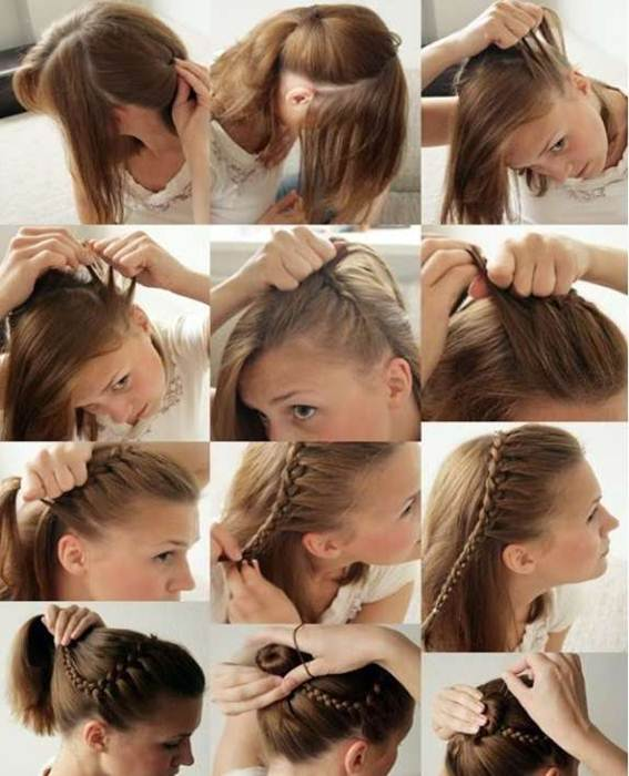 Прическа своими руками на тонкие волосы фото 9