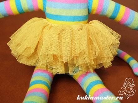 Мк юбка из фатина кукле