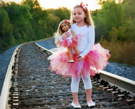 Юбка-пачка из фатина для куклы своими руками-12