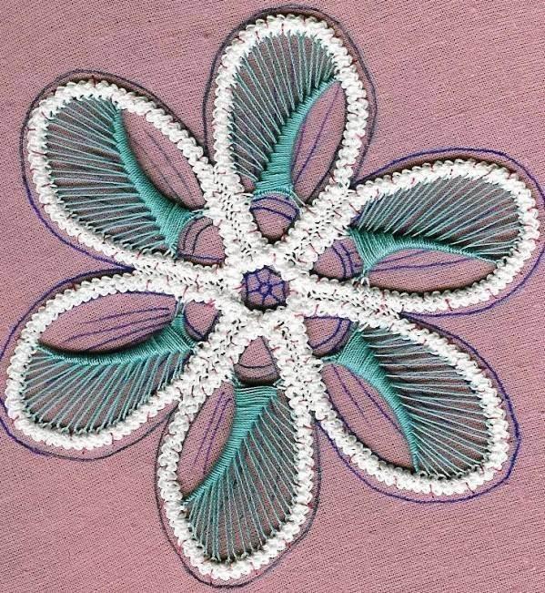 Румынское кружево цветок