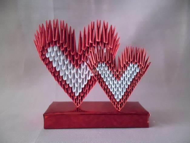 Как с модульного оригами сделать сердце из