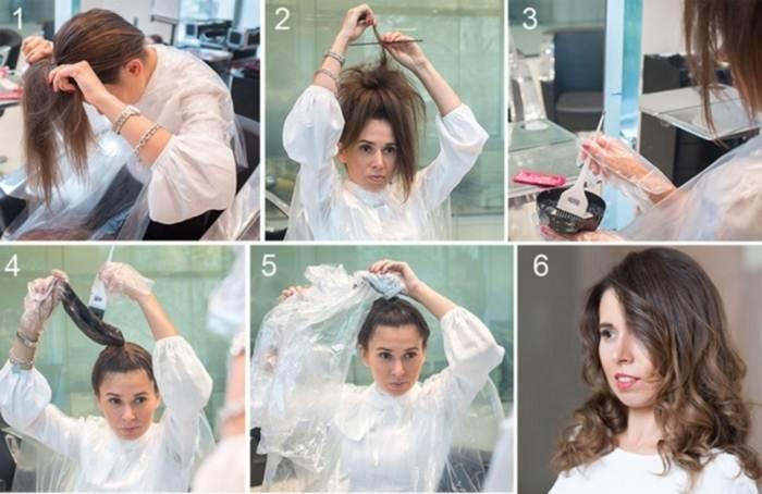Как покрасить волосы в шатуш в домашних условиях