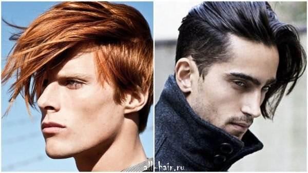 Мужские современные причёски на средние волосы