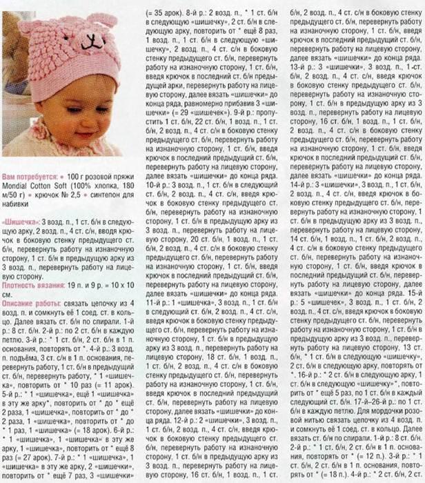 Только вязание детских шапок спицами схемы и описание
