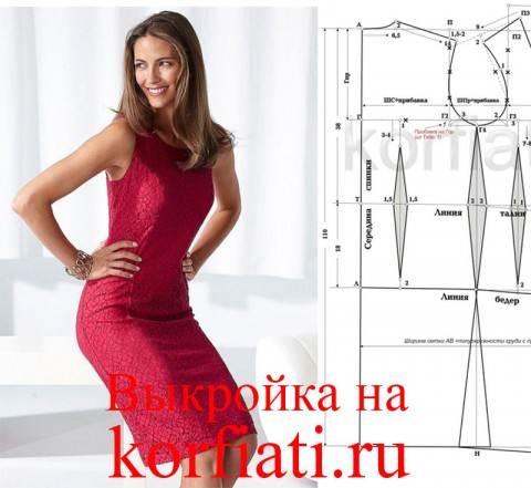 Как уменьшить размер выкройки женского платья