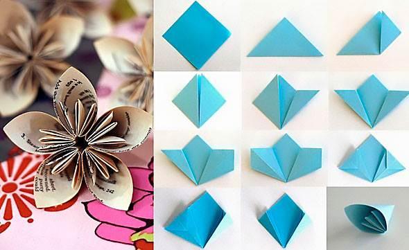 Цветы из бумаги своими руками для начинающих пошаговое