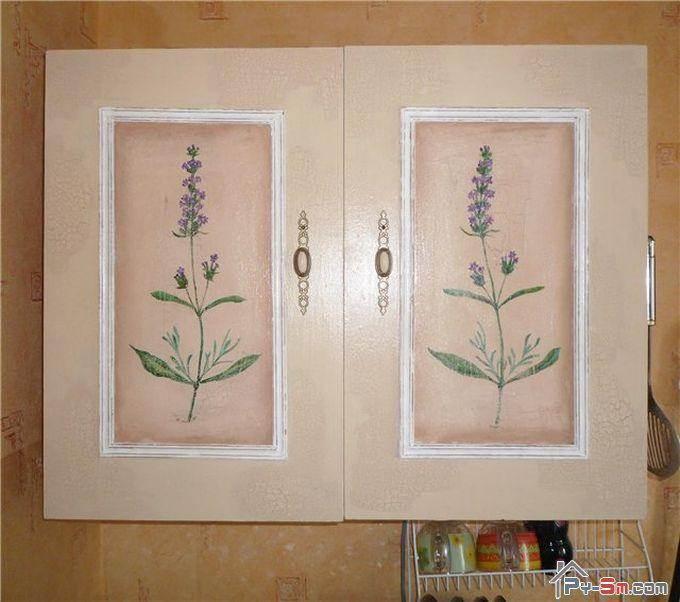 Как украсить фасады кухни своими руками фото
