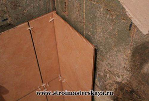 Выравнивание стен для плитки