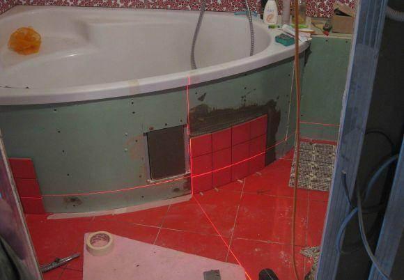 Как сделать встроенную ванну