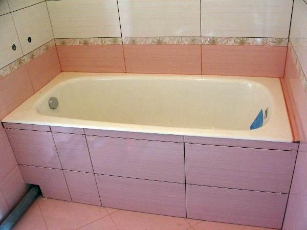 Как ванну сделать плиткой