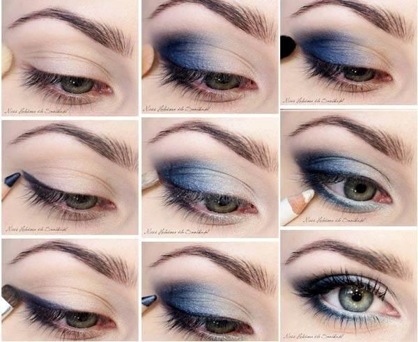 Макияж для голубых глаз смоки айс