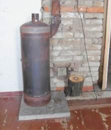 Печь для отопления гаража видео