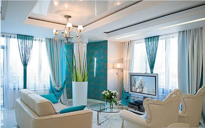 Turquoise grommet curtains