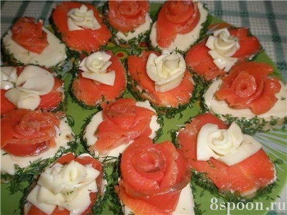 Бутерброды на праздничный стол с семгой рецепты