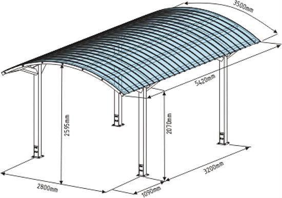 Как сделать навес из поликарбоната для машины